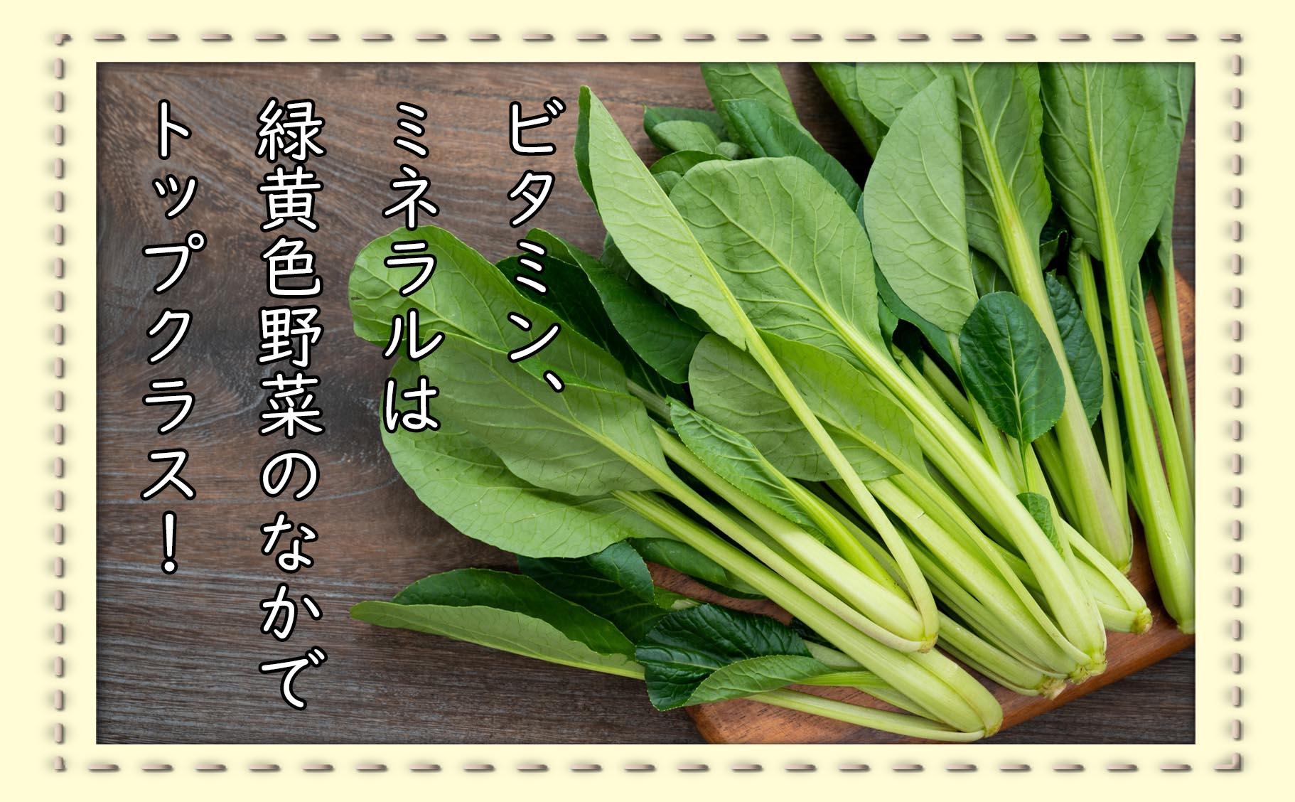 江戸っ子野菜といえば「小松菜」!
