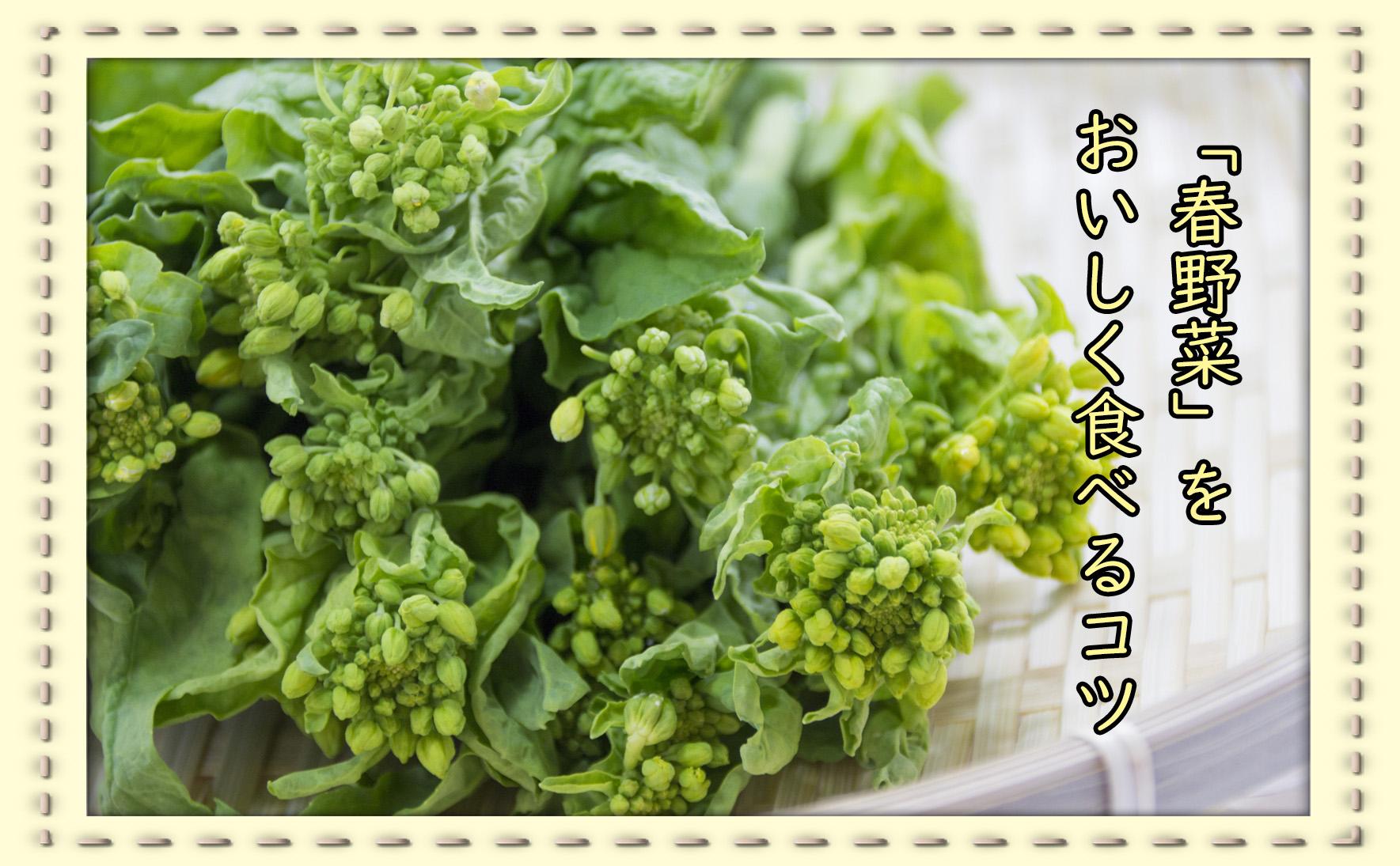 野菜の下処理 春編