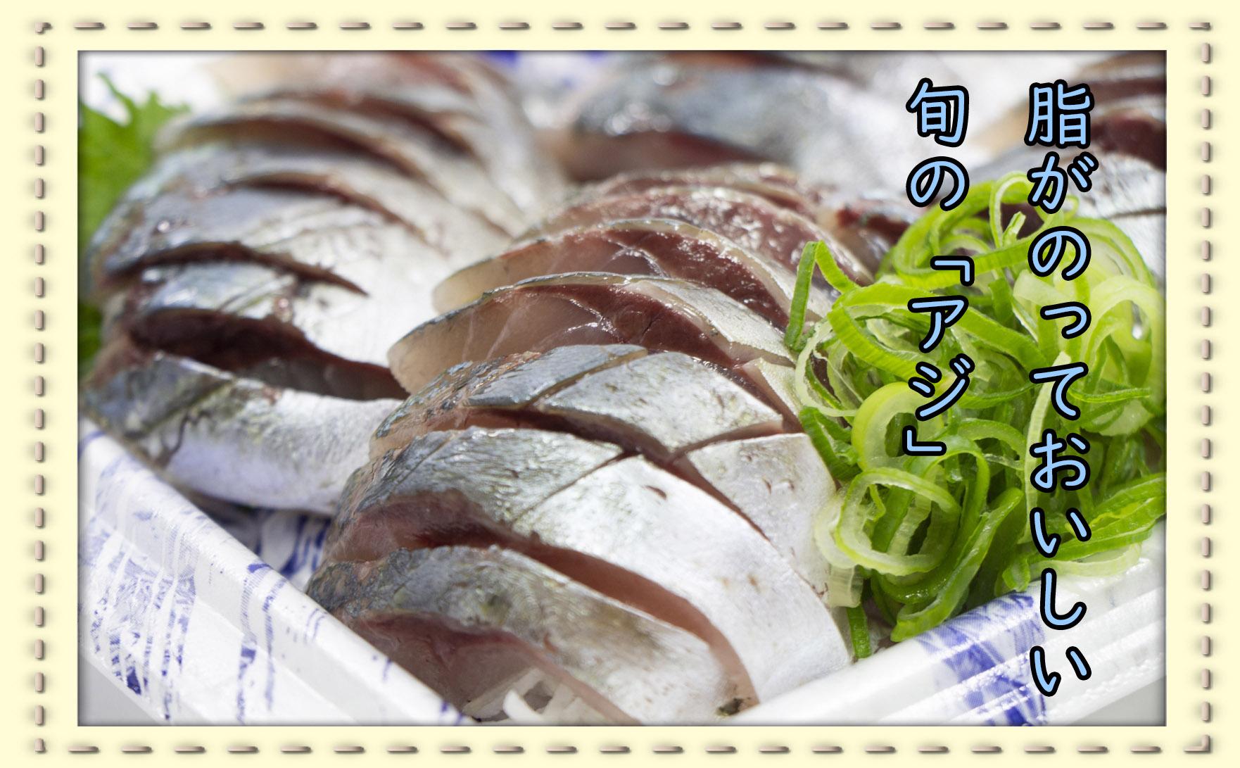 青魚の代表格!アジを食べよう!